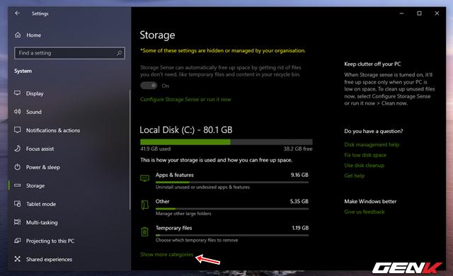 Reserved Storage trên Windows 10 May 2019 là gì? Có nên vô hiệu hóa nó hay không?