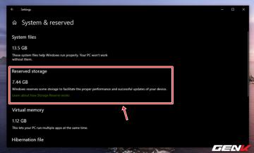 Reserved Storage trên Windows 10 May 2019 có nên vô hiệu hóa ...