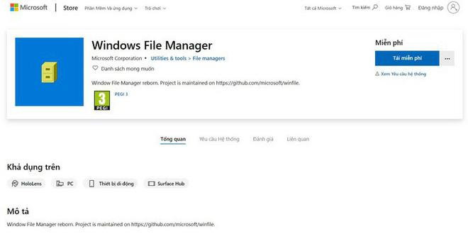 """Microsoft bất ngờ phát hành ứng dụng quản lý file Windows """"đời Tống"""" cho người dùng Windows 10 - Ảnh 1."""