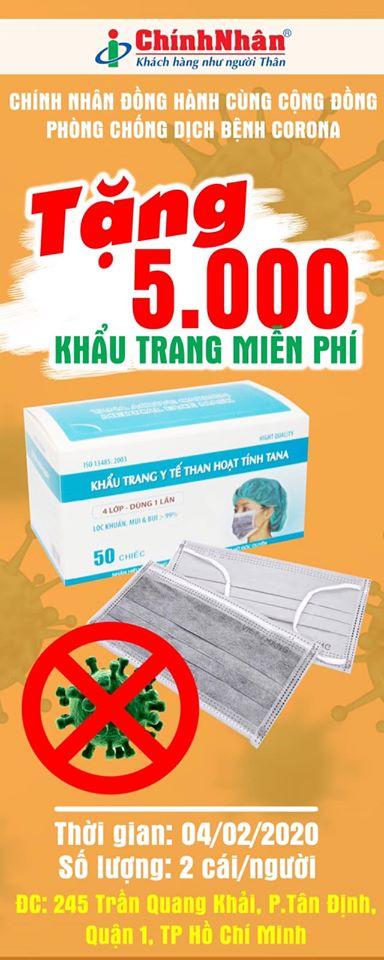 Chính Nhân tặng khẩu trang y tế miễn phí chung tay bảo vệ sức khỏe cộng đồng