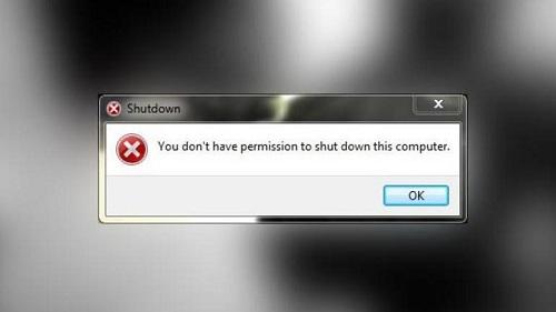 Người dùng Windows 7 không thể tắt máy