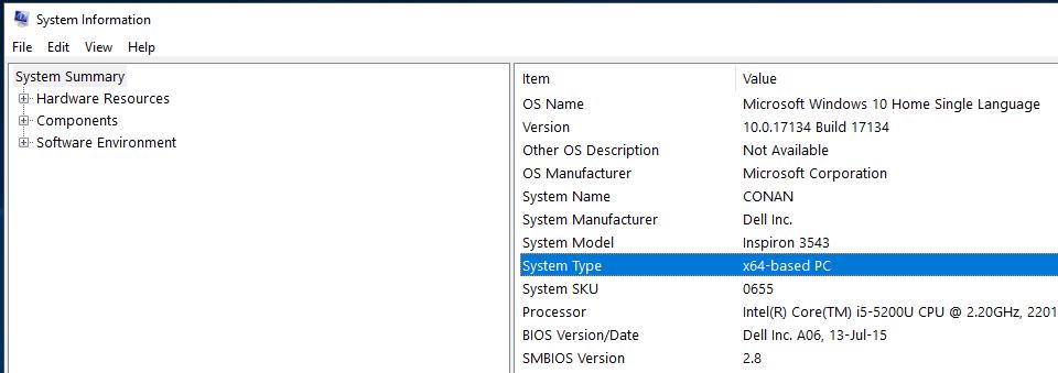 Máy tính đang chạy 32-bit hay 64-bit
