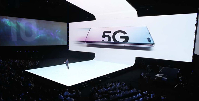 điện thoại Samsung S10, sản phẩm di động 5G đầu tiên vừa ra mắt hồi tháng 4 2019