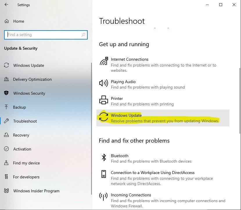 Cách fix sửa các lỗi phiên bản update Windows 10 May 2020
