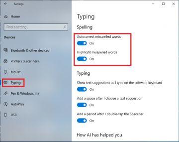 Cách tắt chế độ kiểm tra chính tả trong Windows 10