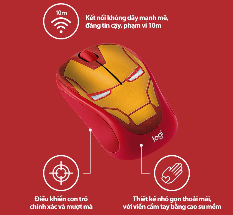 Mouse Logitech M238 Marvel Collection dành cho Fan của siêu anh hùng