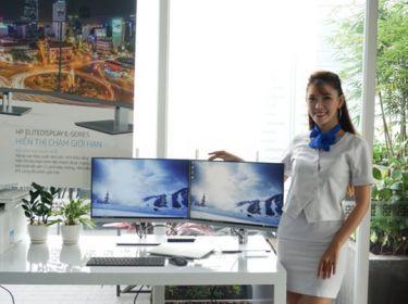 Màn hình HP EliteDisplay E-Series 3 viền siêu mỏng chuyên dùng cho máy tính