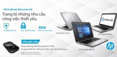 Mua HP Probook 400 Series G4 nhận ngay chuột máy tính không dây HP Z3700