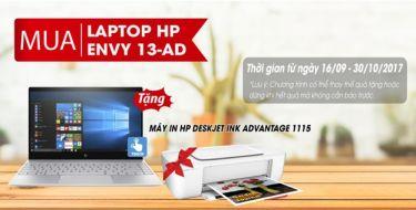 MUA LAPTOP HP ENVY 13-AD TẶNG MÁY IN HP DeskJet Ink Advantage 1115