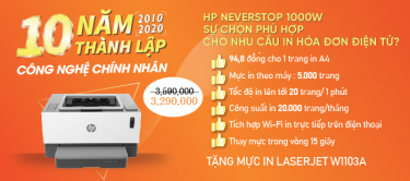 Máy in HP Neverstop Laser 1000w - Sự Lựa Chọn Phù Hợp Cho In HĐĐT