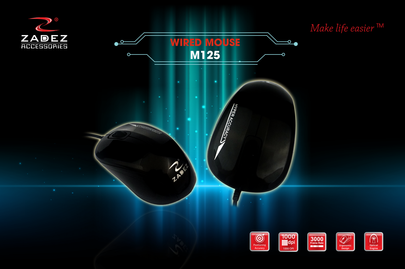 Chuot co day Wired Mouse Zadez M125