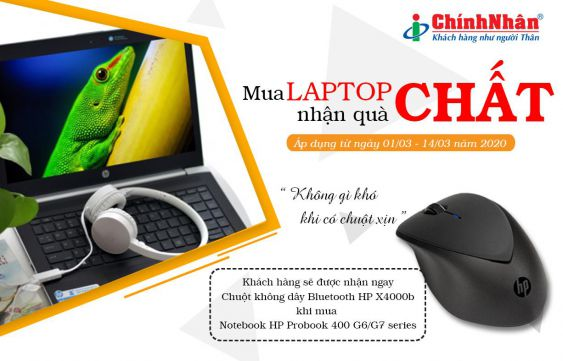 Chương trình khuyến mãi laptop HP tháng 3-2020