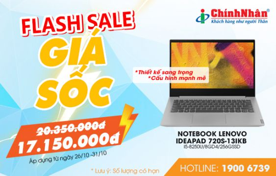 Flash Sale Giật Deal Lenovo khủng