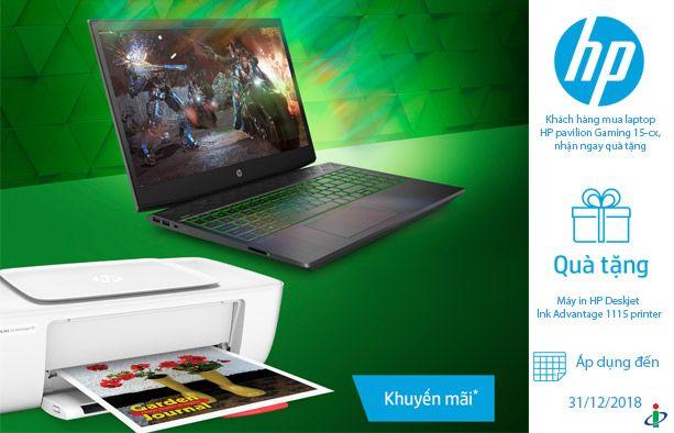 Sắm laptop HP pavilion Gaming 15-cx, nhận ngay quà tặng cool